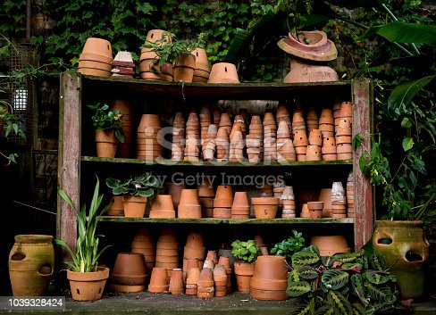 Rustic empty terracotta pots (Click for more)