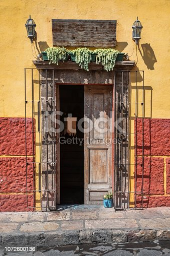 This weathered entrance is from San Miguel de Allende in Mexico