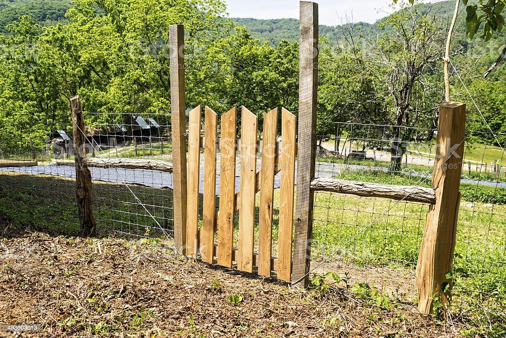 Rustic Farm or Garden Gate royalty-free stock photo