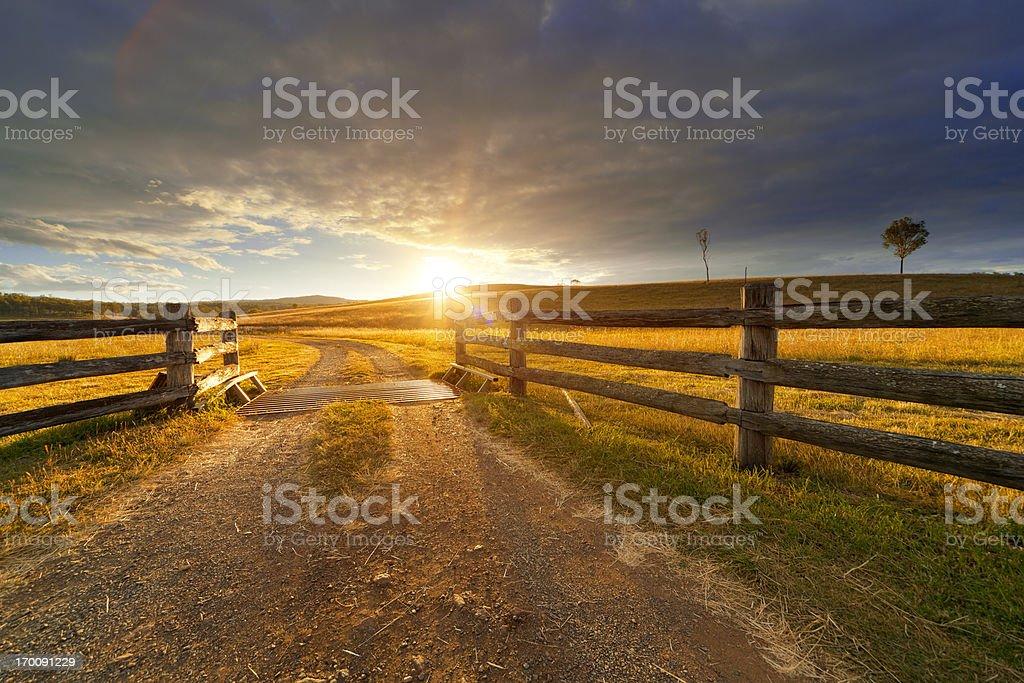 Rustic Farm stock photo