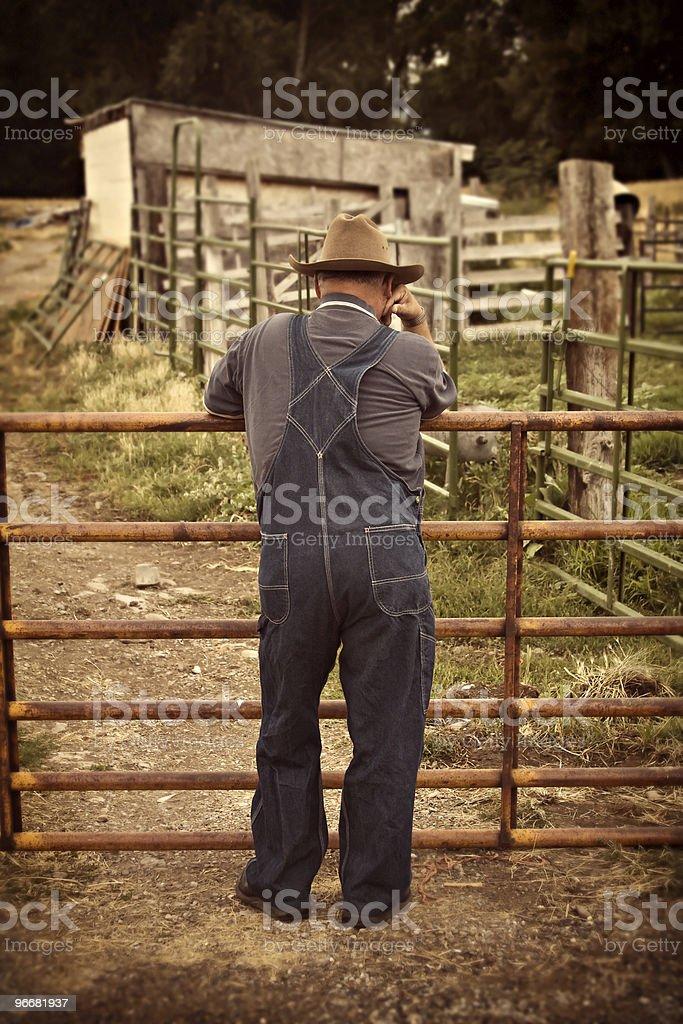 Rustic Farmer stock photo
