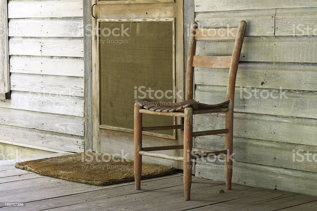 Rustic Front Porch stock photo