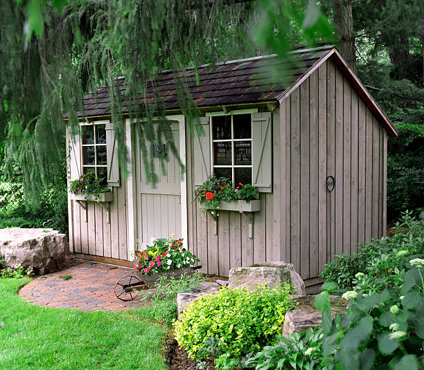 Rustic Garden shed  shed stock pictures, royalty-free photos & images