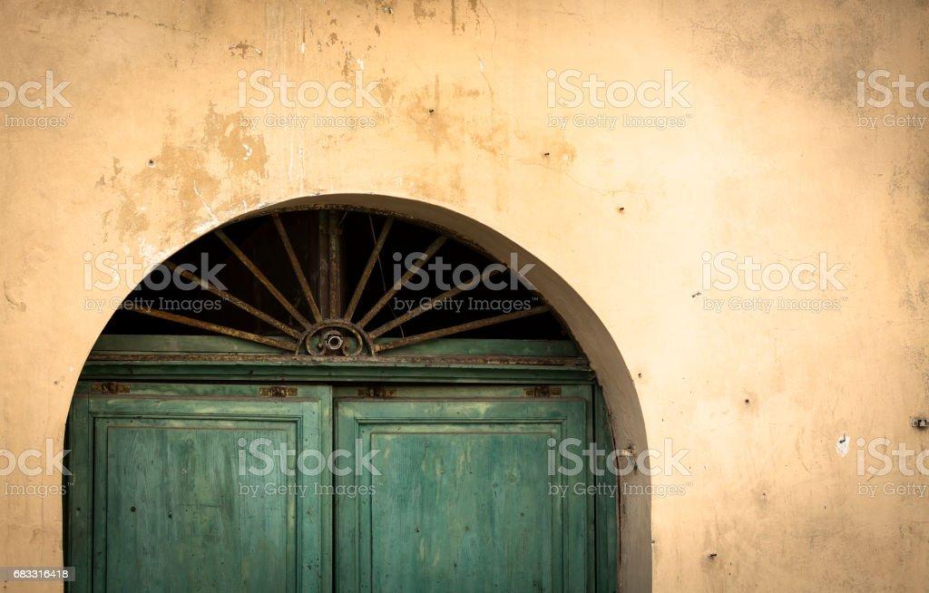 Rustieke groene deur Detail royalty free stockfoto