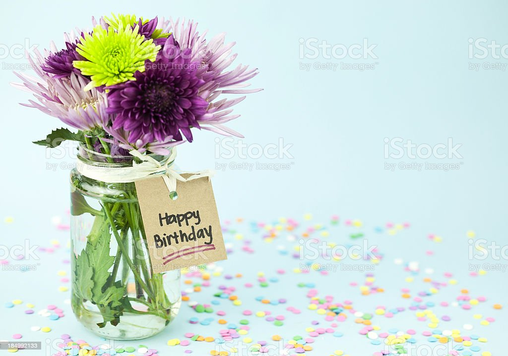 Bouquet Bunch Of Flowers Flower Handwriting Manufactured Object Rustic Happy Birthday