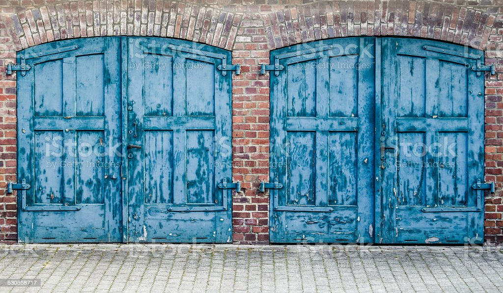 Rustic Heavy Wooden Doors stock photo