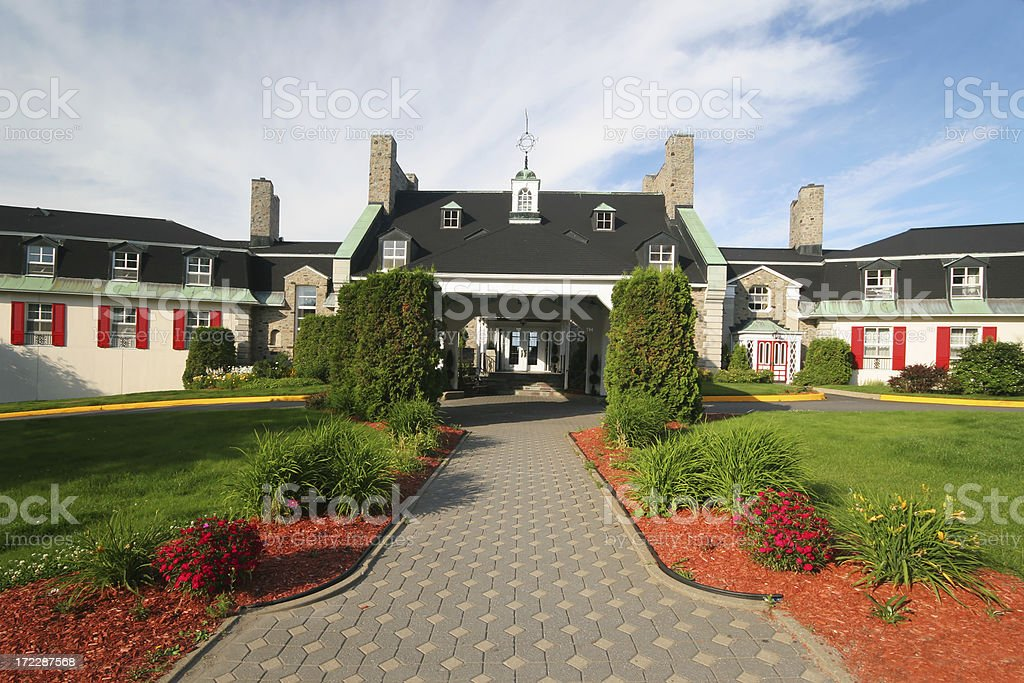 Rustic Hotel in Baie-Comeau city royalty-free stock photo