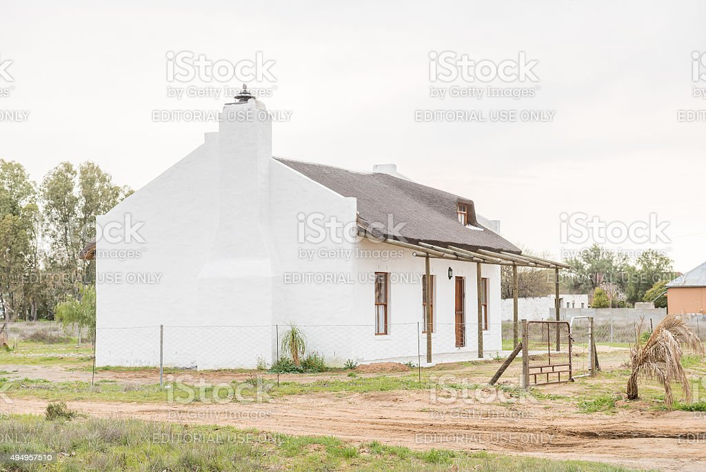 Rustic house in Nieuwoudtville stock photo