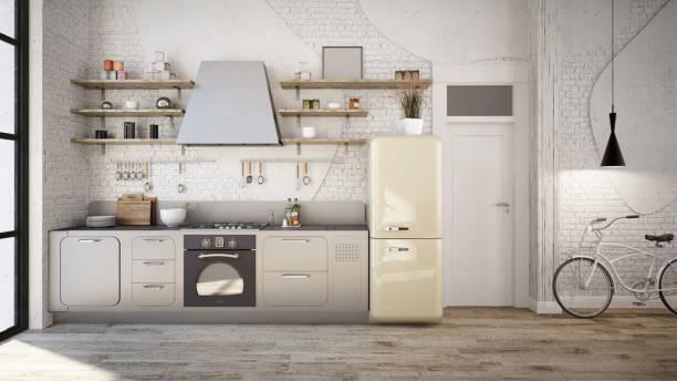 rustik mutfak iç - ev mutfağı stok fotoğraflar ve resimler