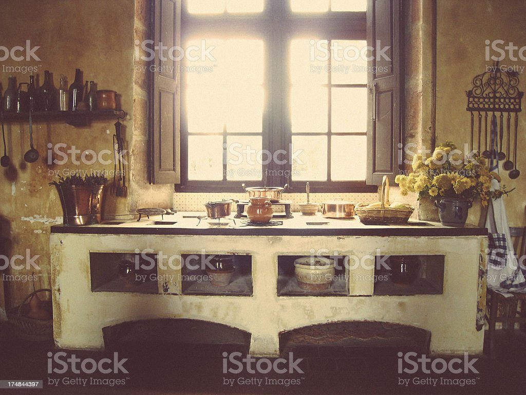 Rustic kitchen royalty-free stock photo