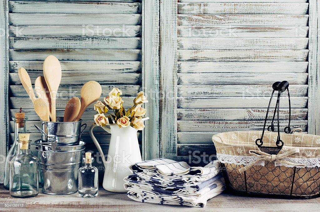 Rústico cocina vida - foto de stock