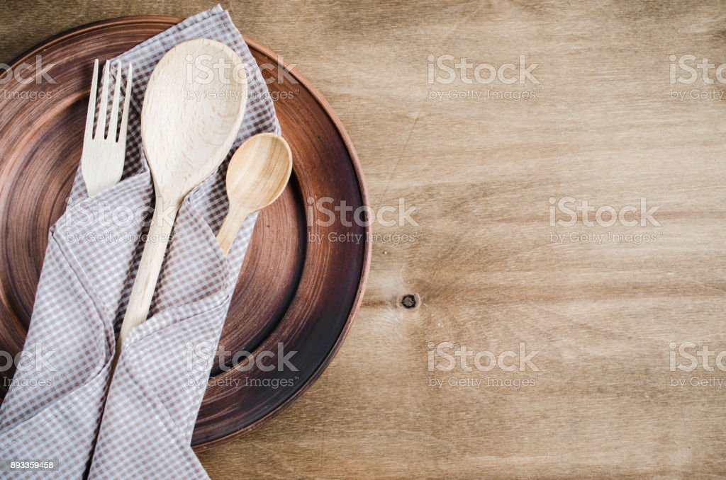 Rustic Kitchen Utensils. Home Wares. stock photo
