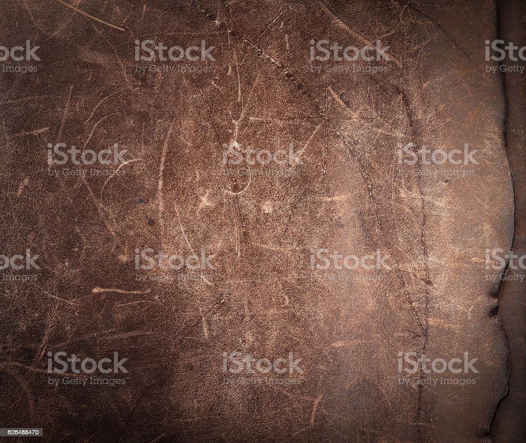 Rustic leather background.Leather texture from an old bag. - Photo