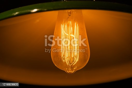 1137999886 istock photo Rustic led lights in retro style 1216926920