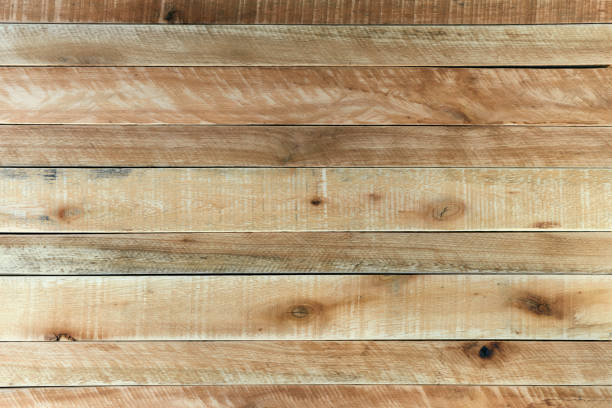Rustic light brown wooden background. stock photo
