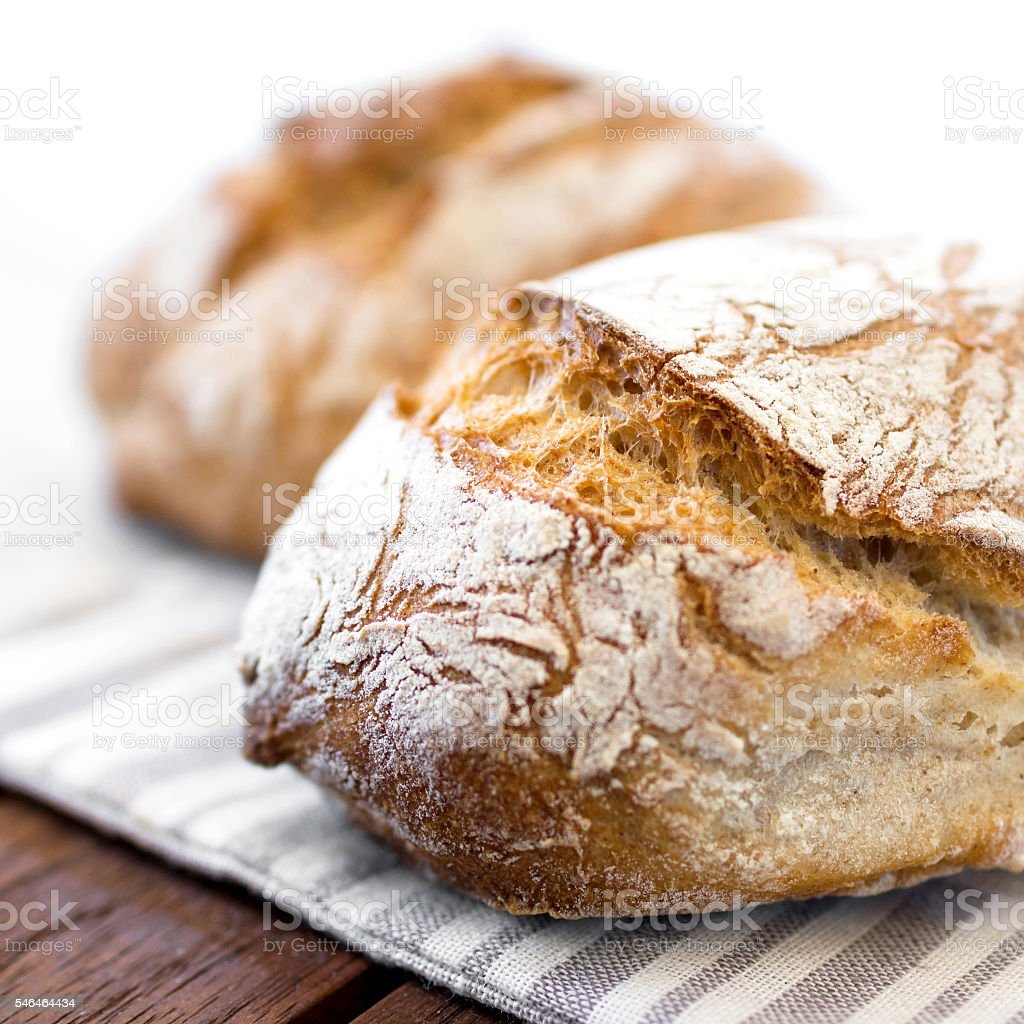 Rustic loaf of bread stock photo