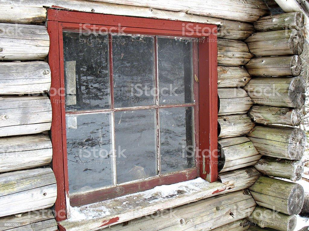 Rustic Log Cabin royalty-free stock photo