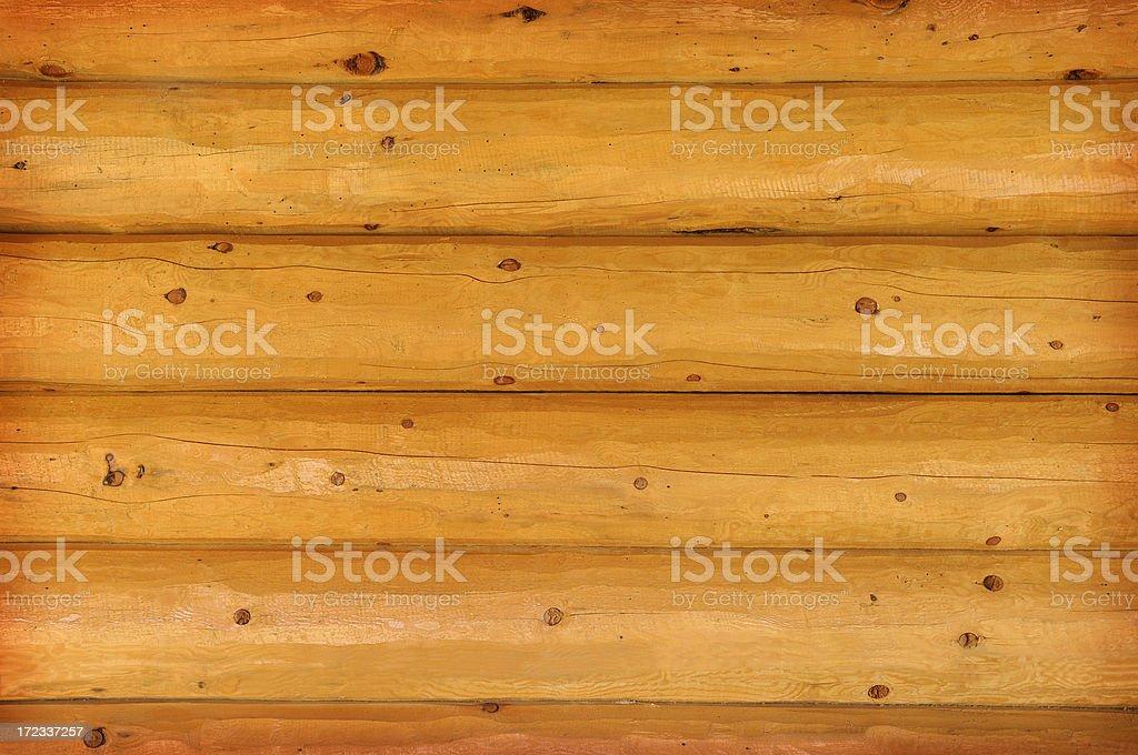 Rustic Log Cabin Wall stock photo