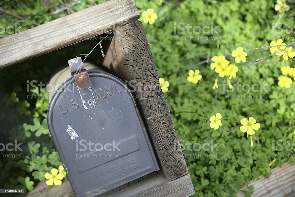 Rustic Mailbox stock photo