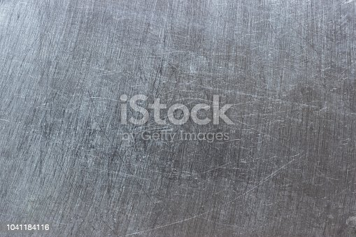 istock Rustic metal background, light metal texture with polished pattern 1041184116