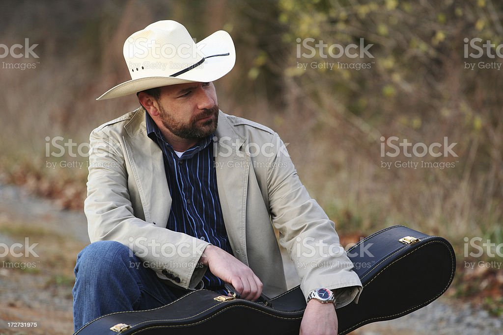 Rustic Musician 01 royalty-free stock photo