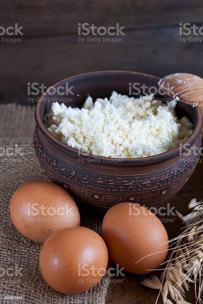 Rustic natural dairy products royalty-free stock photo