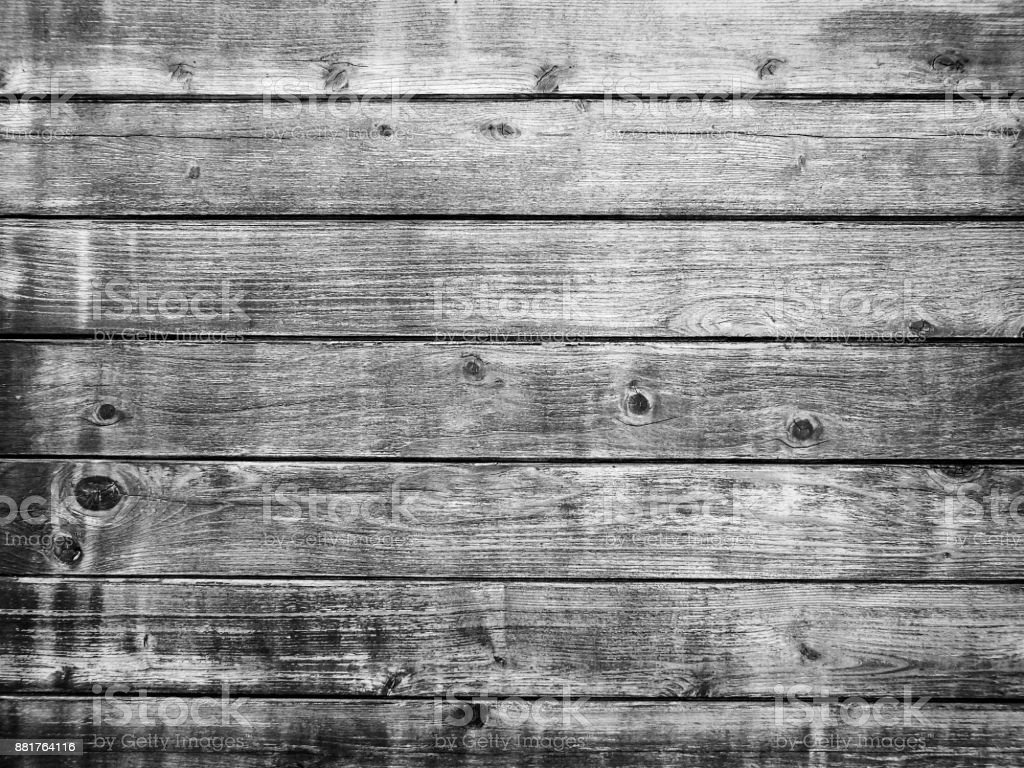 Rustic Natural Woodgrain Boards Abstract Background Black and White stock photo