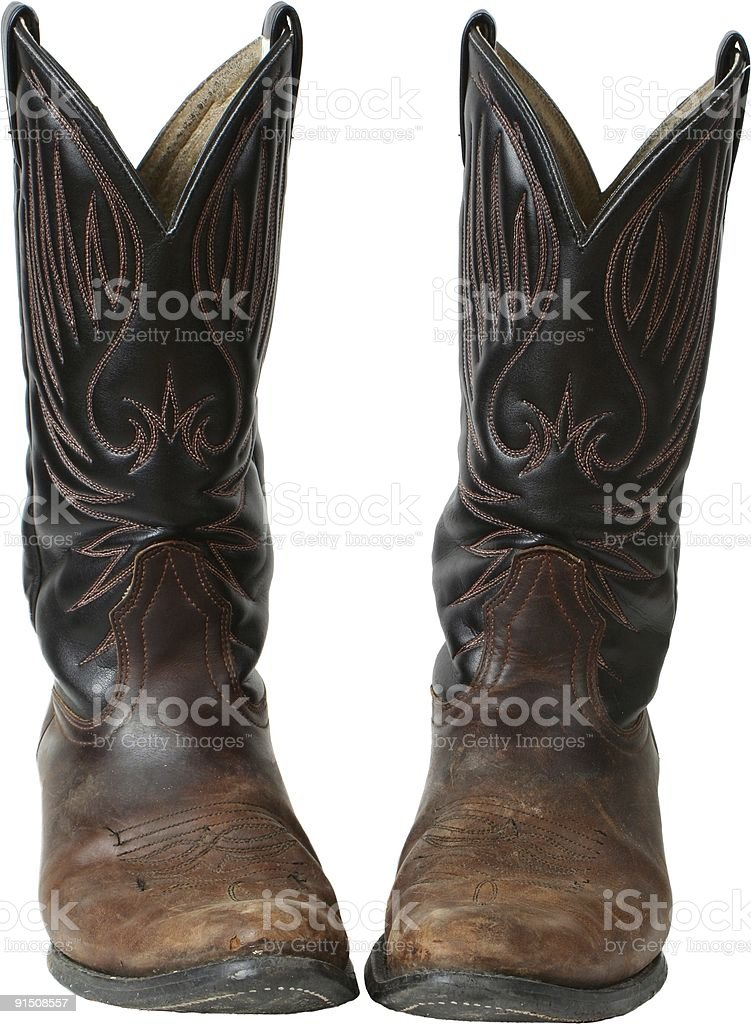 Rustic ol'Boots royalty-free stock photo