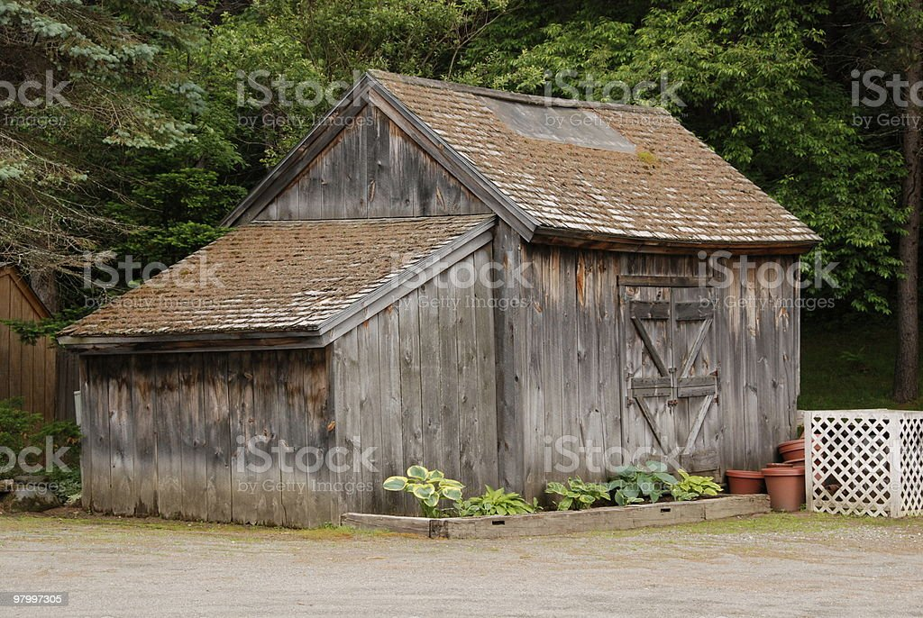 rustic old barn royalty-free stock photo