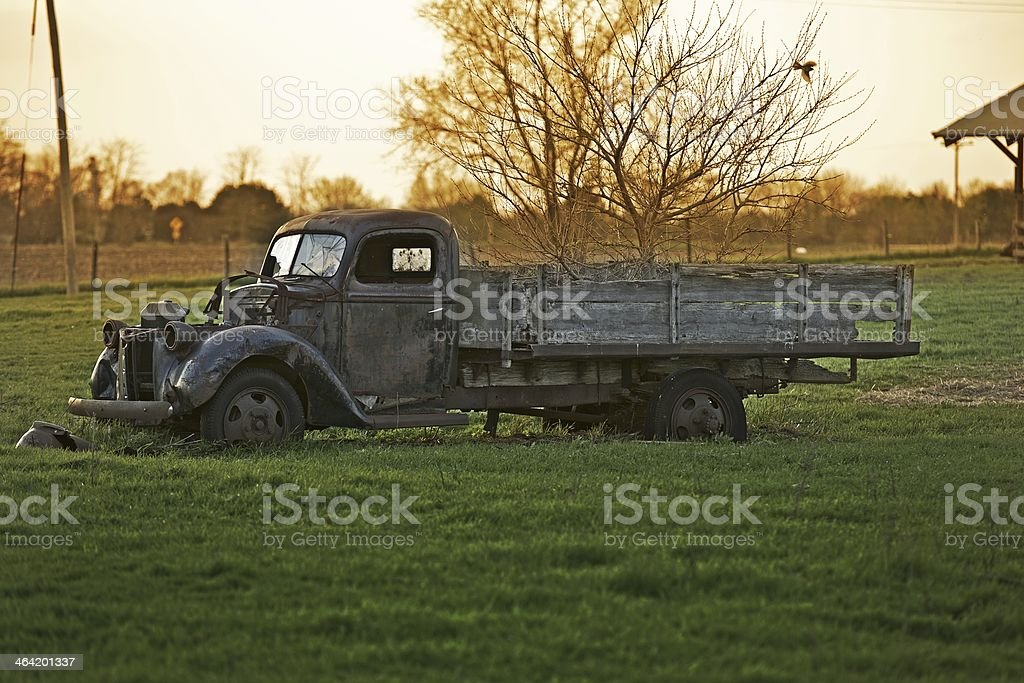 Rustic Old Truck stock photo
