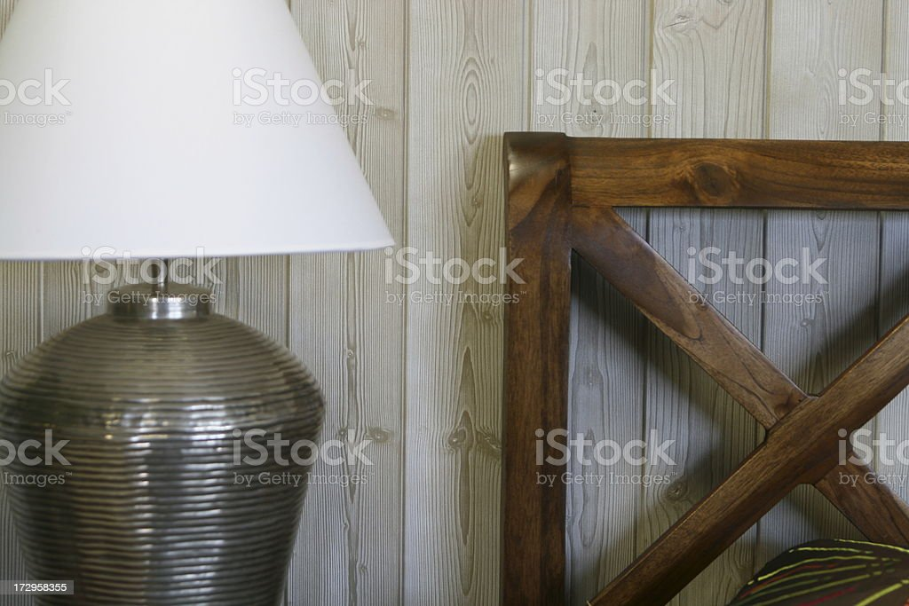 Rustic panel and bed royalty-free stock photo