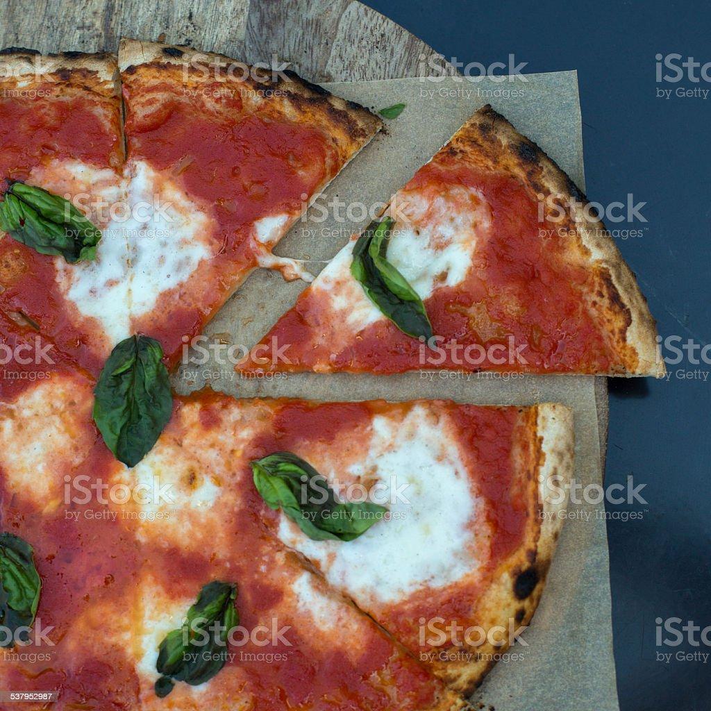 Rustic Pizza stock photo