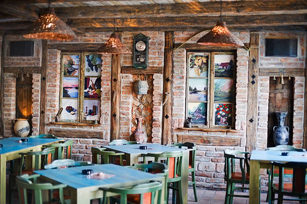 rustic place - pizzeria stock photos and pictures