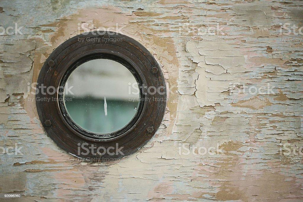 Rustic Porthole royalty-free stock photo