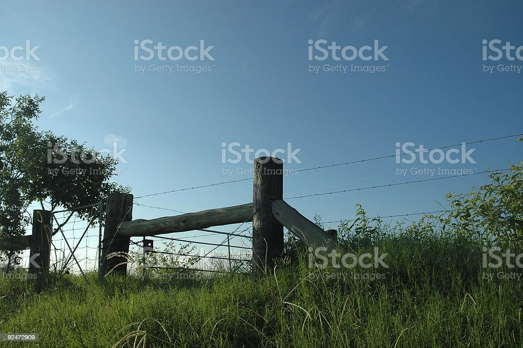 Rustic post royalty-free stock photo