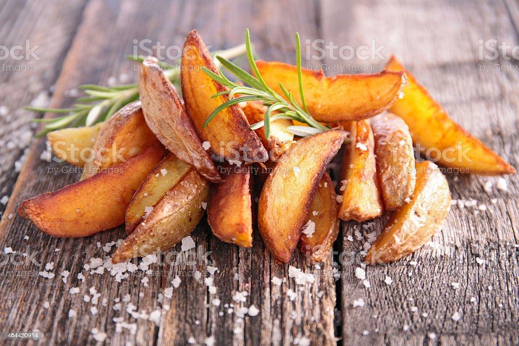 rustic potato stock photo