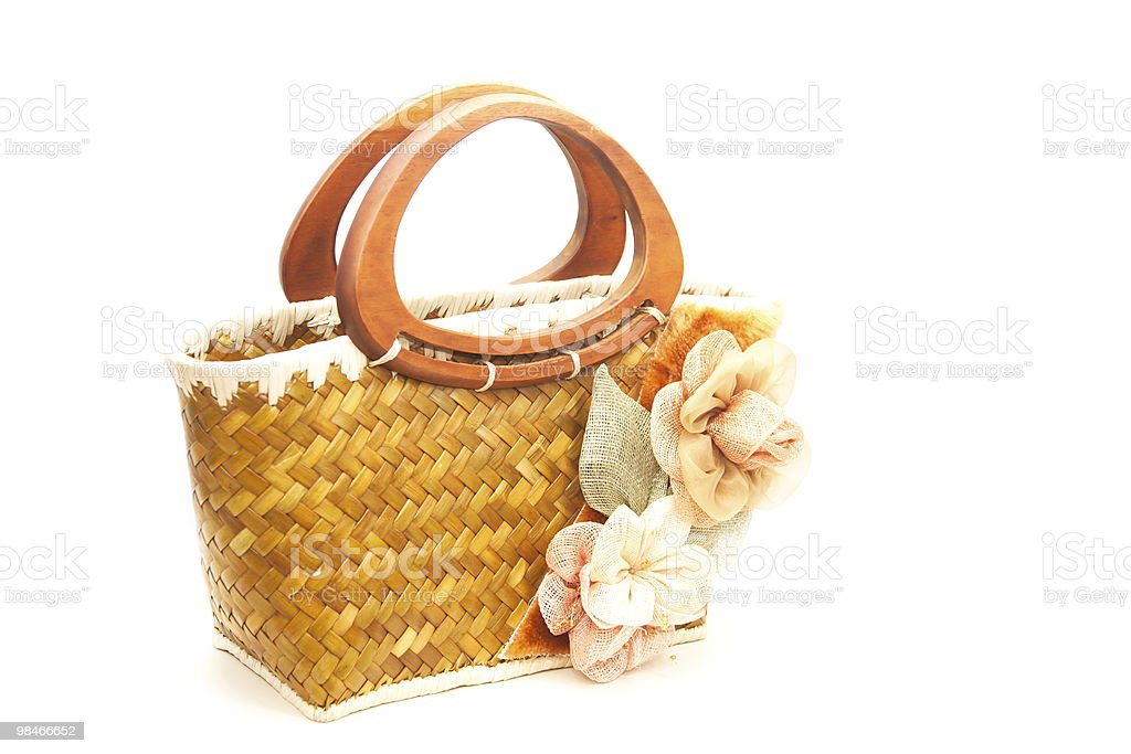Rustic purse royalty-free stock photo
