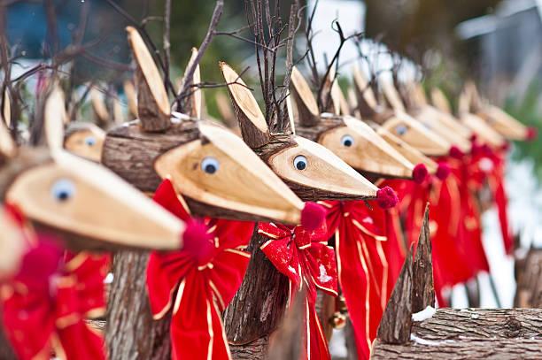 Rustic Reindeer stock photo