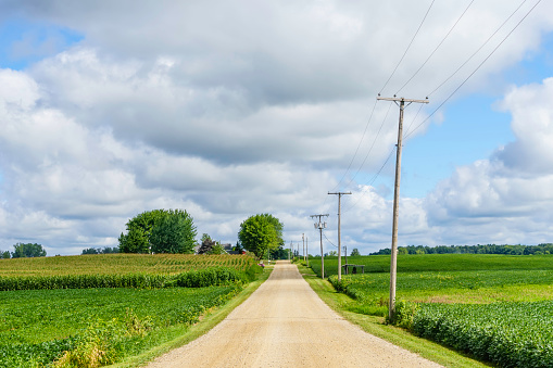 Rustic road in the American heartland