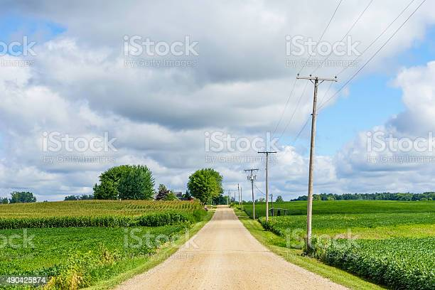 Photo of Rustic road in the American heartland