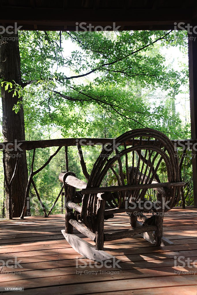 Rustic Rocking Chair royalty-free stock photo
