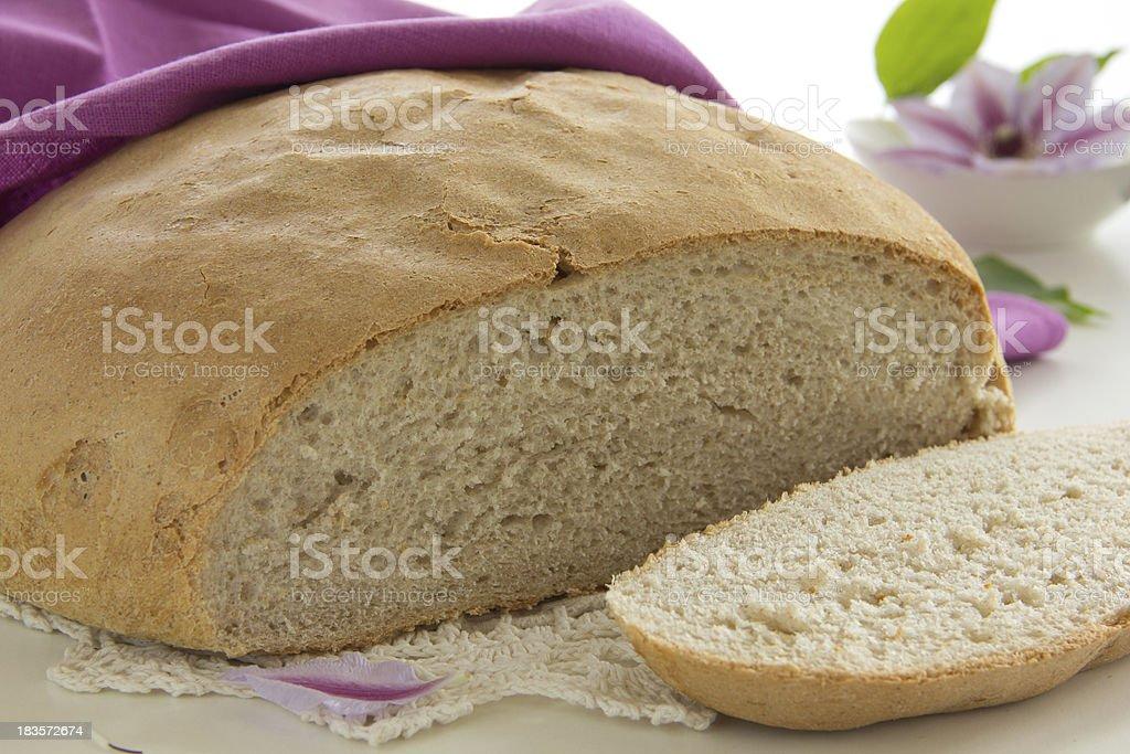 Rustic rye bread. royalty-free stock photo