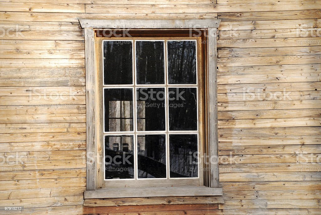 Rustic shack window 2 royalty-free stock photo
