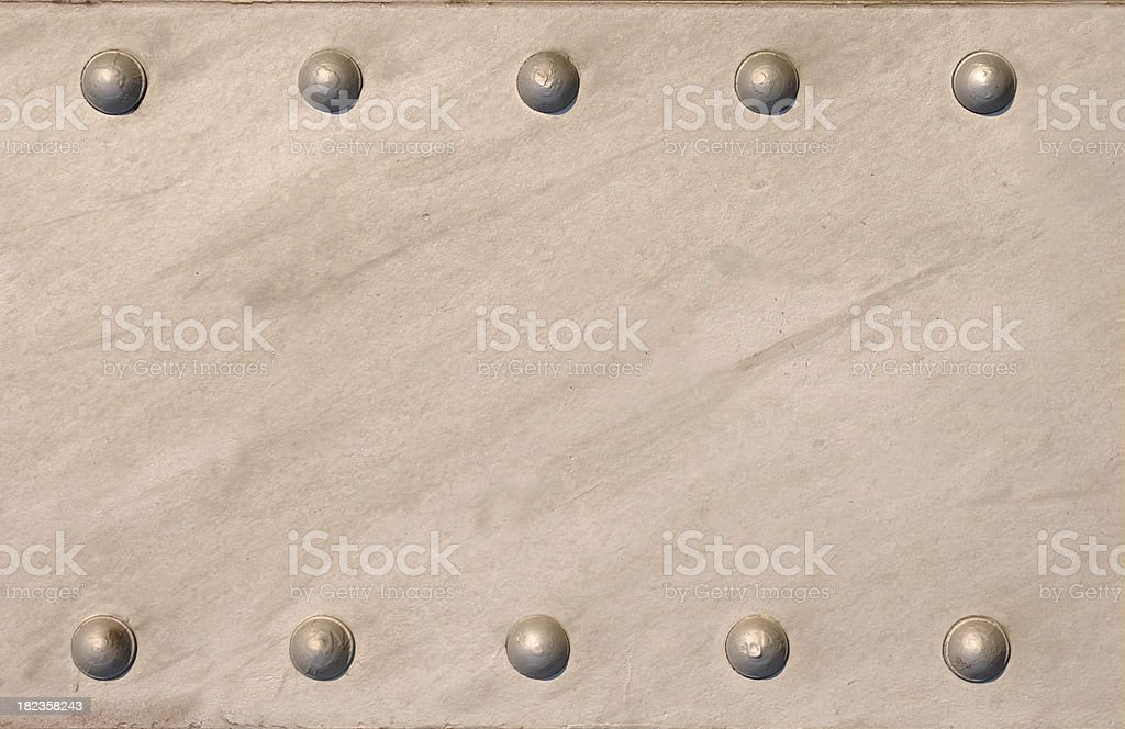 Rustic Steel Plate Beam with Large Rivets stock photo