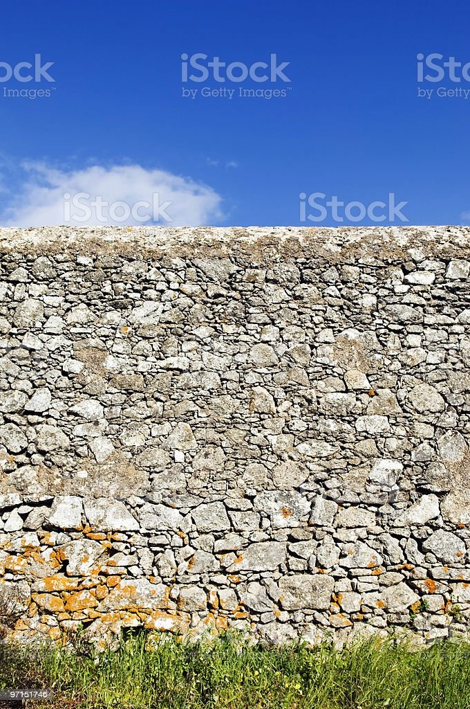 Rustic stone wall royalty-free stock photo