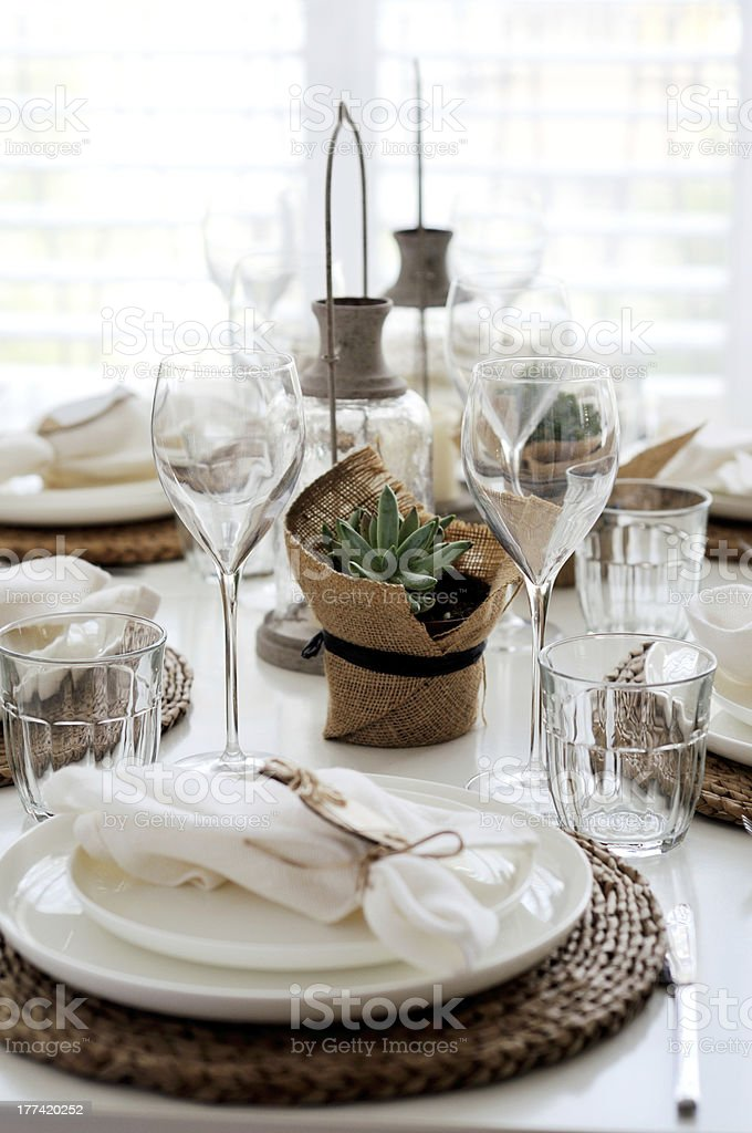 Rustic style table setting for dinner party royalty-free stock photo & Rustic Style Table Setting For Dinner Party Stock Photo \u0026 More ...