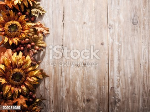Rustic Sunflower Border Stock Photo More Pictures Of Arrangement