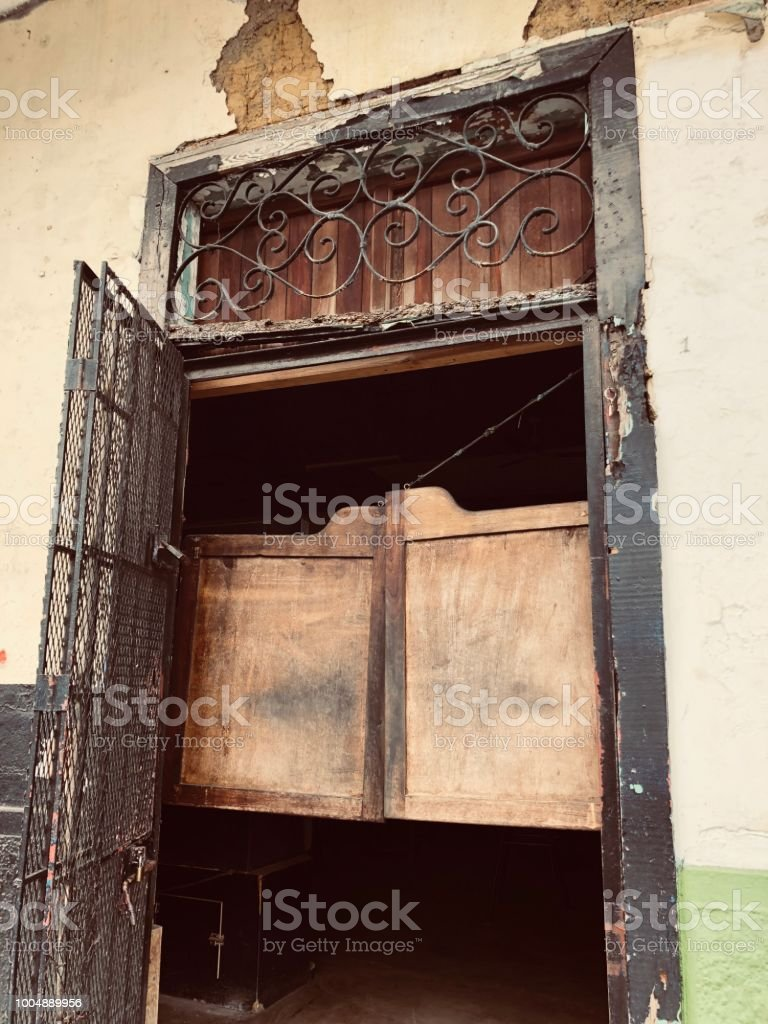 Rustic Swinging Saloon Doors royalty-free stock photo - Rustic Swinging Saloon Doors Stock Photo & More Pictures Of Antique