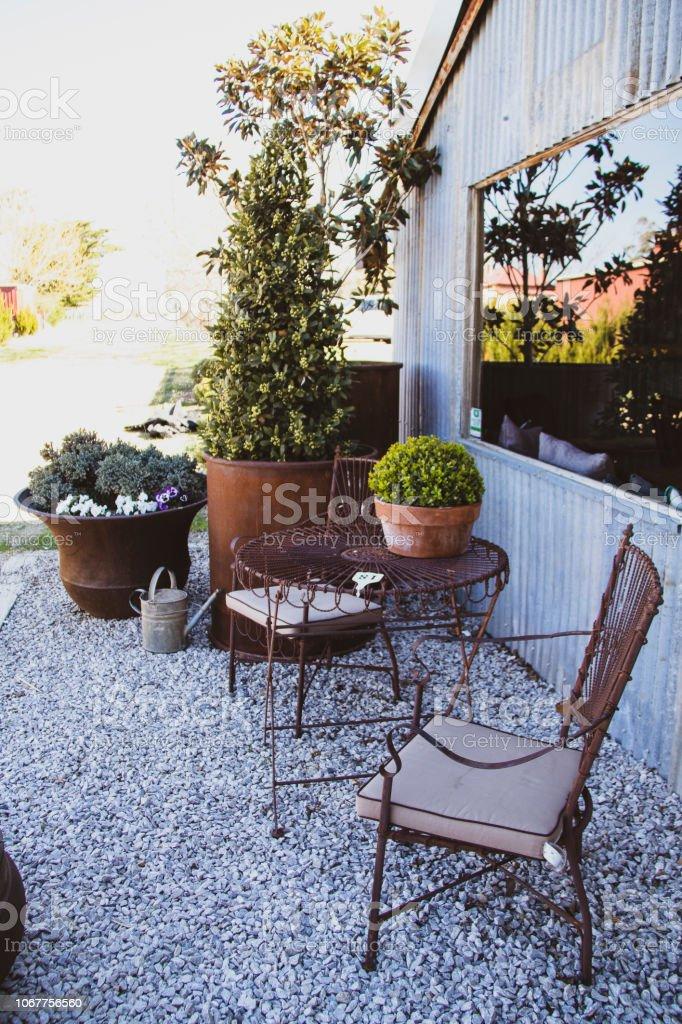 Rustic Table Setting Garden Australia Stock Photo Download Image Now Istock