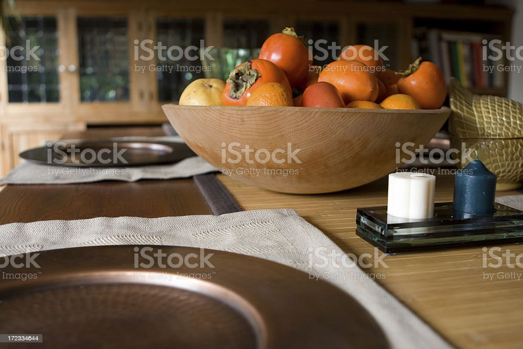 Rustic Table Setting stock photo